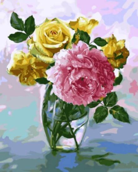 """Изображение """"Букет с розовым пионом"""" Игоря Бузина"""
