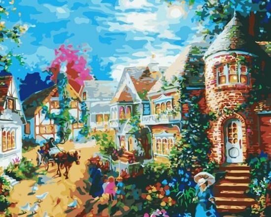 """Изображение """"Вечерний поселок"""" Ники Боэм"""