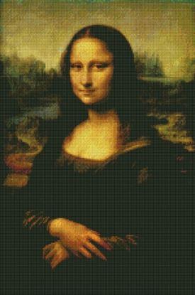 "Изображение Алмазная вышивка ""Джоконда"" Леонардо да Винчи 40x50 Артикул: A595"