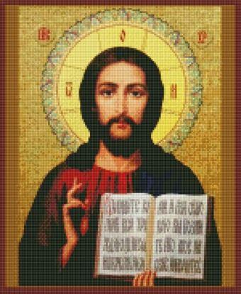 """Изображение Алмазная вышивка """"Христос Спаситель"""" 40x50 Артикул: CI-005"""