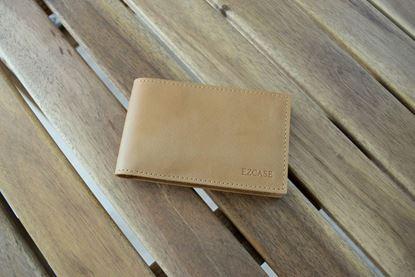 Изображение Кожаная визитница для визиток и дисконтных карт Mini (песочная) Ezcase (Белоруссия) Артикул:  VZ00002