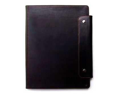 Изображение Папка кожаная А4 (черная) Ezcase (Белоруссия) Артикул:  OP00004